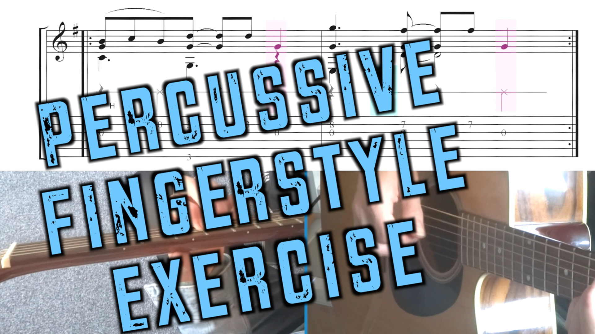 Percussive Fingerstyle Exercise - Fast Car Tracy Chapman GitaarvanHout